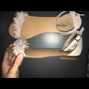 STEVE MADDEN: suede sandals, worn once